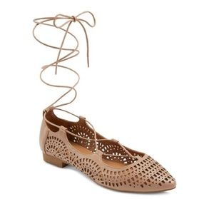 Mossimo Supply Co. Cut Out Lace Up Flats